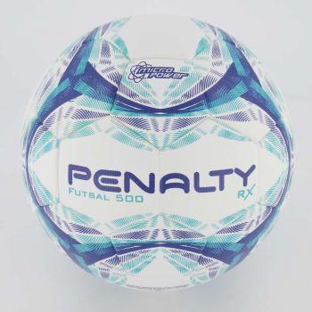 Bola Penalty RX R1 500 Futsal Branca Azul