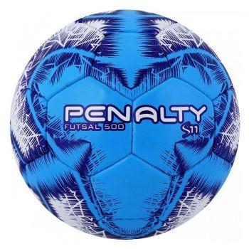 Bola Penalty S11 500 R4 IX Futsal Branca e Azul