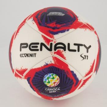 Bola Penalty S11 Ecoknit FERJ Campo Branca e Vermelha