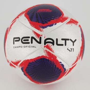 Bola Penalty S11 R1 XXI Campo Prata e Vermelha