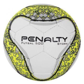 Bola Penalty Storm VI Futsal Branca e Amarela