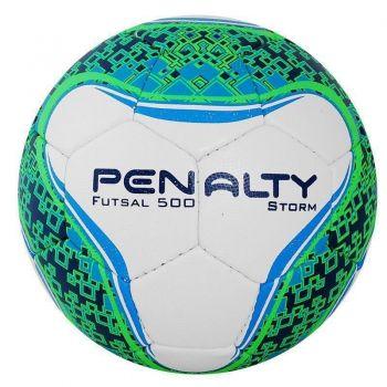 Bola Penalty Storm VI Futsal Branca e Verde