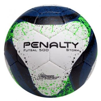 Bola Penalty Storm VII Futsal Branca e Verde
