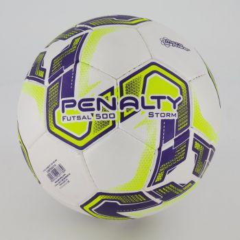 Bola Penalty Storm X Futsal Branca e Amarela