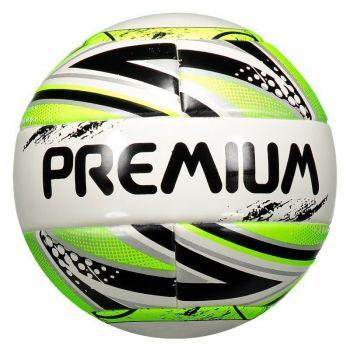 Bola Premium F8 Pró Futsal Sub 11 Branca e Verde