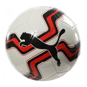 Bola Puma Big Cat Logo Campo Branca e Vermelha
