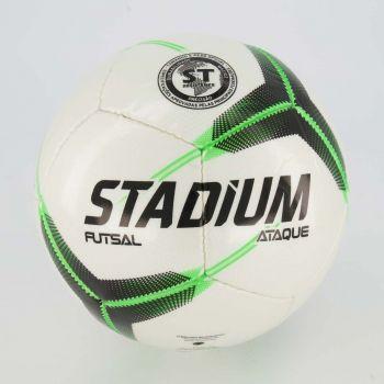 Bola Stadium Ataque II Futsal Branca e Verde