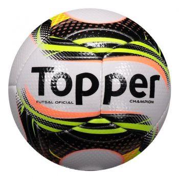 Bola Topper Champion II Futsal Preta e Verde
