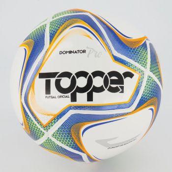Bola Topper Dominator Pró Futsal Branca e Azul