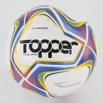 Bola Topper Dominator TD1 Futsal Branca e Azul