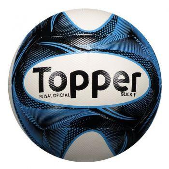 Bola Topper Slick II Futsal Azul e Preta