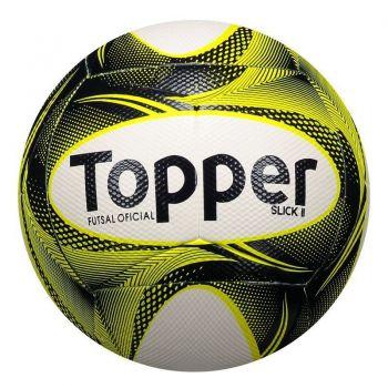 Bola Topper Slick II Futsal Branca e Amarela