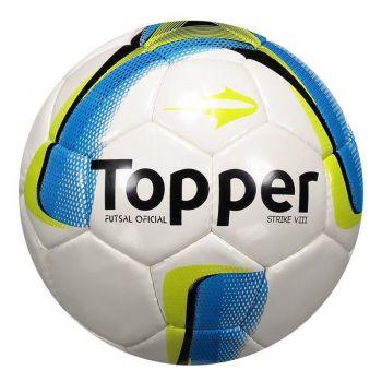 Bola Topper Strike VIII Futsal Branca e Azul