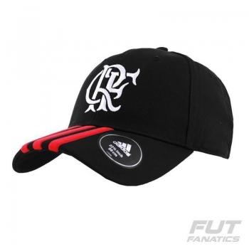 Boné Adidas Flamengo 3S Preto
