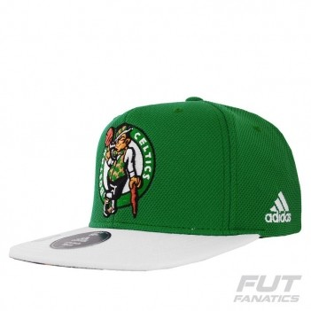 Boné Adidas NBA Boston Celtics Verde e Branco