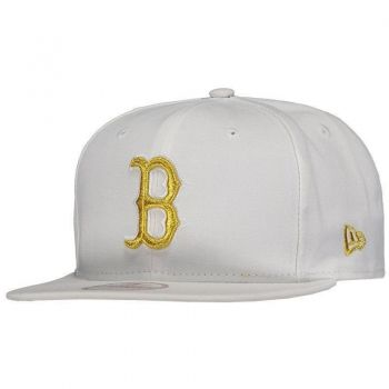 Boné New Era MLB Boston Red Sox 950 Branco e Dourado