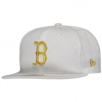 Boné New Era MLB Boston Red Sox 950 Branco e Dourado