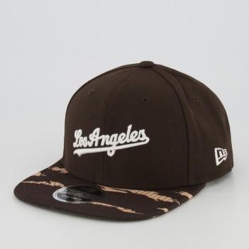 Boné New Era MLB Los Angeles Dodgers 950 Estampado Marrom