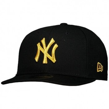 Boné New Era MLB New York Yankees 950 Preto e Dourado