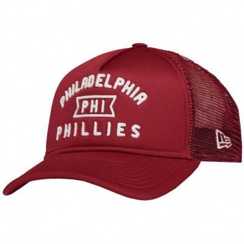 Boné New Era Mlb Philadelphia Phillies 940 Vinho