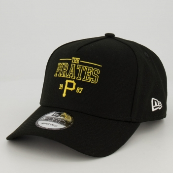Boné New Era MLB Pittsburgh Pirates Preto e Amarelo