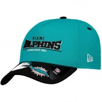 Boné New Era NFL Miami Dolphins 3930 Verde e Preto