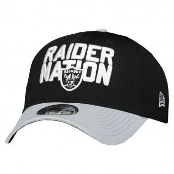 Boné New Era NFL Oakland Raiders 3930 Logo Preto e Cinza