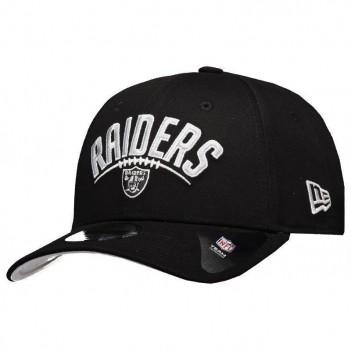 Boné New Era NFL Oakland Raiders 940 Preto e Cinza