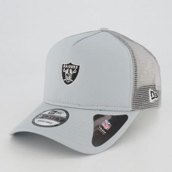 Boné New Era NFL Oakland Raiders 940 Essentials Cinza