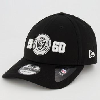Boné New Era NFL Oakland Raiders 940 Preto Escudo
