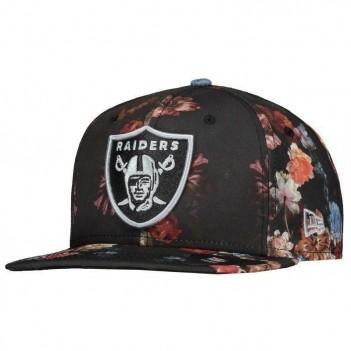 Boné New Era NFL Oakland Raiders 950 Preto Floral