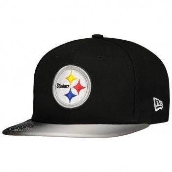Boné New Era NFL Pittsburgh Steelers 950 Preto e Cinza