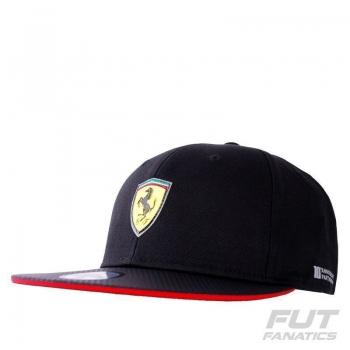 Boné Puma Scuderia Ferrari Flatbrim Preto