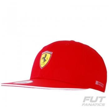 Boné Puma Scuderia Ferrari Flatbrim Vermelho