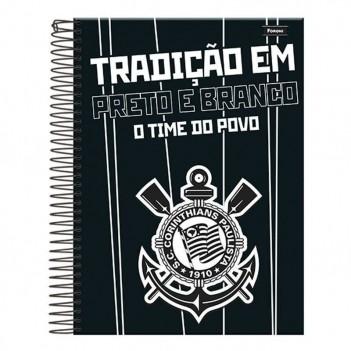 Caderno Foroni Corinthians Tradição em Preto e Branco 20 Matérias