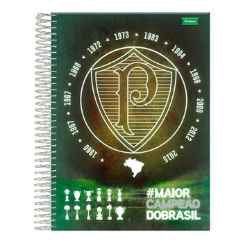 Caderno Foroni Palmeiras Escudo e Taça 1 Matéria