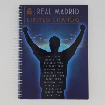 Caderno Foroni Real Madrid 12 Matérias Champions Azul