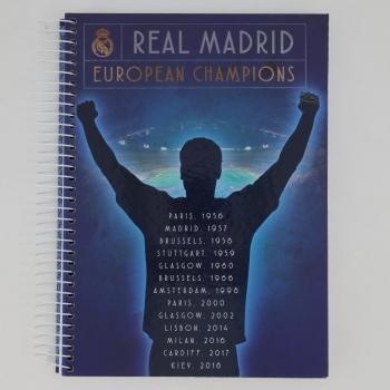 Caderno Foroni Real Madrid Champions 10 Matérias Azul