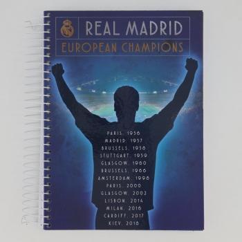 Caderno Foroni Real Madrid Champions 15 Matérias Azul