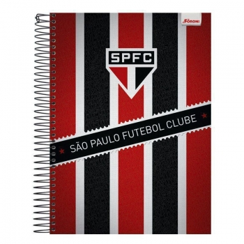 Caderno Foroni São Paulo Tricolor 1 Matéria