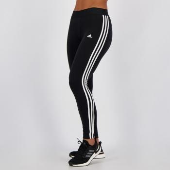 Calça Legging Adidas 3 Stripes Feminina Preta
