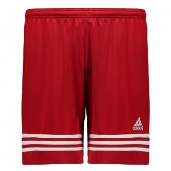 Calção Adidas Entrada 14 Vermelho e Branco