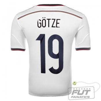 Camisa Adidas Alemanha Home 2014 19 Gotze
