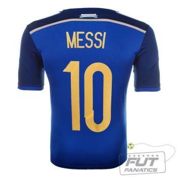 Camisa Adidas Argentina Away 2014 10 Messi Matchday