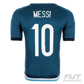 Camisa Adidas Argentina Away 2015 10 Messi Copa América