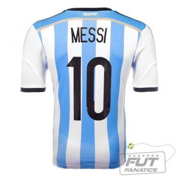 Camisa Adidas Argentina Home 2014 10 Messi Authentic Matchday