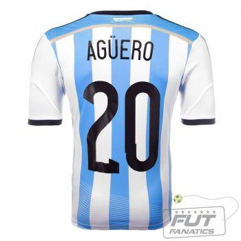 Camisa Adidas Argentina Home 2014 20 Aguero Matchday