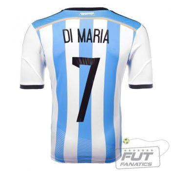 Camisa Adidas Argentina Home 2014 7 Di Maria