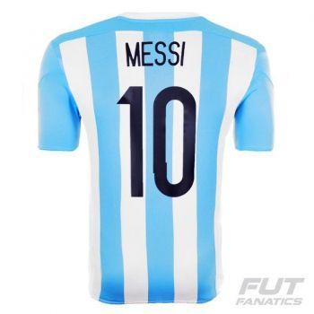Camisa Adidas Argentina Home 2015 10 Messi Matchday Final Copa América
