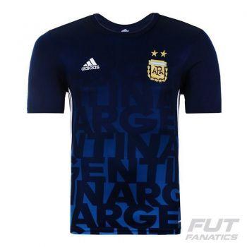 Camisa Adidas Argentina Pre Match 2016